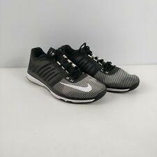 Para hombres Nike Zoom Velocidad TR Negro Blanco Zapatillas Sneakers UK 12 EU 47.5 Zapatos
