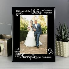 Personalised Father of the Bride Dad of all the Walks Glass Frame 5x7 Wedding