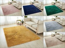 Fluffy Rugs Anti Slip Skid SHAGGY RUG Soft Carpet Mat Floor Bedroom Living Room