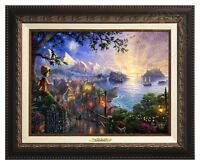 Thomas Kinkade Pinocchio 12 x 16 Canvas Classic (Aged Bronze Frame)