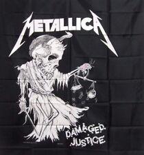 METALLICA OFFICIAL1989 VINTAGE FLAG BANNER WALL HANGING DAMAGED JUSTICE US MADE