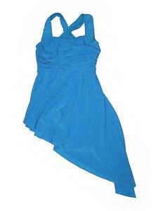 Girl Balera D3334 Blue Matte Jersey Biketard Asymmetrical Lyrical Dance Dress LC
