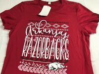 Arkansas Razorbacks T-Shirt Womens L/XL Go Hogs Student Alumni NEW Cotton Tee