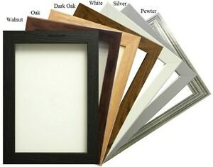 Photo Frame Picture Frame Poster Frame In Black White Pewter Silver Oak Walnut
