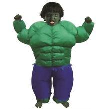 Inflatable enfants vert MUSCLE Déguisement homme fête Noël costume