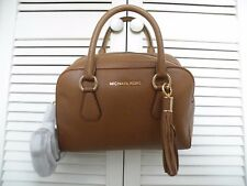 """MICHAEL KORS"" Tan Leather Bedford Tassel Crossbody/Handbag  - BNWT - Genuine"