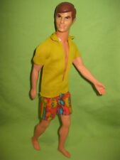 Barbie VINTAGE 1970 Good Lookin' KEN Bendable Leg DOLL in MOD Swimsuit OUTFIT