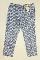 Charter Club Womens Classic Fit Slim Leg Ankle Pants Modern Blue Printed $59