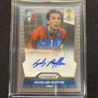 Gianluigi Buffon Autograph Panini Soccer Card 2014 Italy English NM Prizm