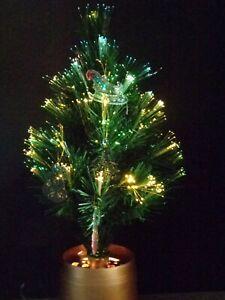 "Vintage Fiber Optic Christmas Tree 18"" Kaleidoscope Color Change Wheel Box works"