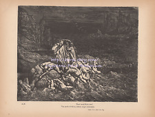 Angry Lost Souls-Hell-1890 ANTIQUE VINTAGE ART PRINT-Torture-Punishment-Gothic