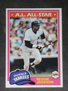 1981 Topps Reggie Jackson #400 Yankees NM/MT or Better 002