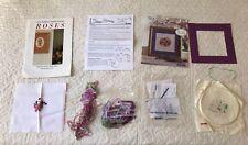 Bucilla Silk ribbon embroidery kit February Merrilyn Heazlewood book 3 roses