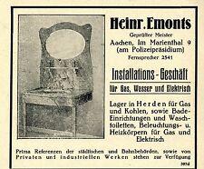 Heinr. Emonts Aachen dinstallation geschaeft historique la publicité de 1926