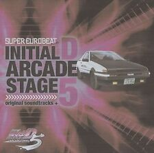 New 1059-60 2 CD Initial D SUPER EUROBEAT ARCADE STAGE 5 Music CD SOUNDTRACK