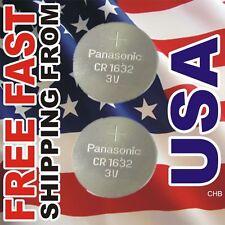 2 PANASONIC CR1632 ECR1632 CR 1632 3v Lithium Battery