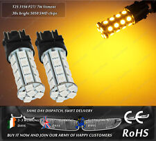 LED SMD T25 3157 P27/7W Yellow Front Rear Turn Signal Indicator Light Bulbs 12V