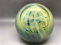 Mdina Matt Paperweight Cut With Facet Engraved With Maltese Cross