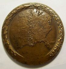 Médaille 100 ans ILLINOIS CENTRAL bronze MAIN LINE of MID AMERICA 1951 s KILENYI
