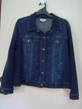 Quality Sue SMART STRETCHY AUTOGRAPH DENIM JACKET Plus size 22+