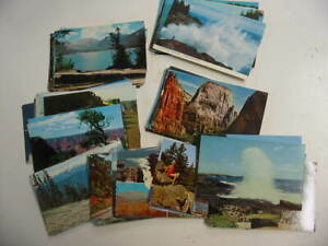 100 National Park Postcard Lot