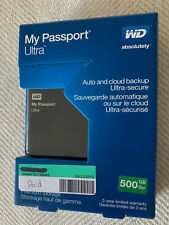 IN BOX WD My Passport Ultra 500 GB Portable External USB Hard Drive, Older Model