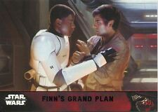 Star Wars Force Awakens S1 Purple Parallel Base Card #85 Finn's grand plan