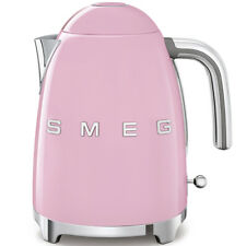 SMEG KLF03PKUK Electric Kettle Retro Style 1.7 Litre Stainless Steel Pink . New.