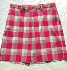 IZOD Golf Shorts Mens 34 Cranberry Plaid New