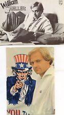 WILLIAM SHELLER CP CARTE POSTALE ORIGINALE ( LOT DE 2 ) 70'S PROMO CD ++ RARE ++