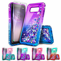 For Samsung Galaxy S8 Active | Liquid Glitter Bling Case Cover +Screen Protector