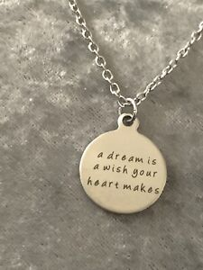Sentimental Quote silver necklace On 20 inch chain