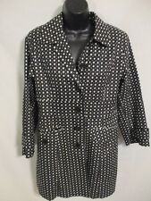 BIG CHILL 100% Cotton Size S Black Polka Dot All Season Coat
