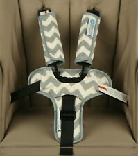 Keep Me Cosy® Harness Covers + Buckle Cosy* for Prams, Strollers - Grey Chevron