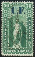 Van Dam OL6 CANADA REVENUE 50c Green ONTARIO LAW Manuscript SEE PHOTOS Lot K-357