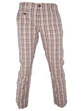 simbols pantalone chino uomo beige quadri made italy dritto taglia 46 w 32 small