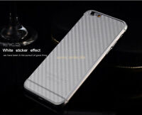 2PCS For IPhone X/XS/MAX 6/7/8Plus 6/5/4s Cell Phone Back 3D Carbon Fiber Film