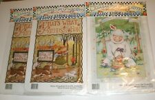 3 Daisy Kingdom Mary Engelbreit Iron On Transfer What Friends Are For & Easter