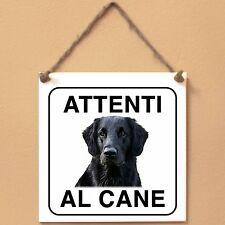 Flat Coated Retriever 3 Attenti al cane Targa cane cartello ceramic tiles