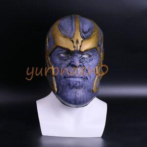 2018 Avengers: Infinity War Thanos Mask Cosplay Full head Latex Halloween Mask