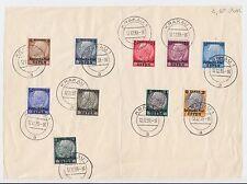Deutsche Post Osten - 10 Werte auf Stempelvorlage ex. Mi. 1-13 - KRAKAU 12.12.39