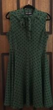 Near New Princess Highway Green Polka Dot Dress - Pussybow - Size 14