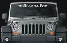 Fits Jeep Cherokee custom text windshield decal flames