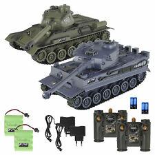 RC tanques Tiger vs. t-34 36cm 2.4g ww2 combate tanque Pánzer infrarrojos sistema de combate v2