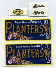 LINCOLN TOYS PLANTERS PEANUTS TRUCK REPLACEMENT DECAL SET