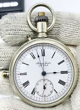 1890s 18s Henry Sandoz Le Locle Minute Repeater Chronograph Swiss Pocket Watch