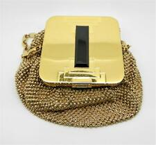 EVANS 1940s GOLD TONE MAKE-UP COMPACT MESH PURSE - RARE FIND - LB-C1511
