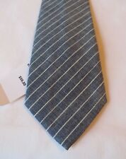 Brooks Brothers Men's Plaid Neck Tie Gray w/White Pin Stripes NWT retailed 59.50