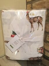 NWT Pottery Barn ~SILLY STAG~ QUEEN Sheet SET ~CHRISTMAS~ DEER Winter  New