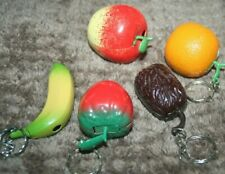 Lot 5 Collectible vintage metal Lighters and keychain - fruits